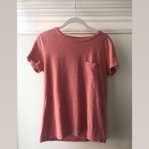 MADEWELL dusty rose crew neck tee, small